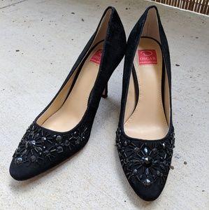Oscar by Oscar de la Renta | Black sparkle heels